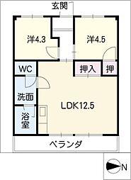 メトロポリスIII[2階]の間取り