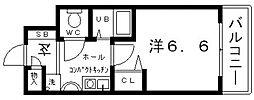 ラナップスクエア上本町[6階]の間取り