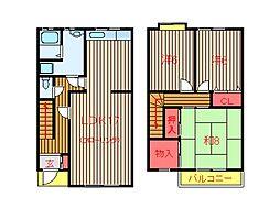[テラスハウス] 千葉県船橋市習志野台4丁目 の賃貸【/】の間取り