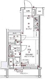 スパシエソリデ横浜鶴見[6階]の間取り