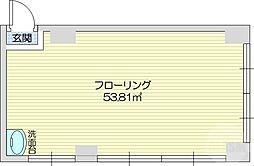 仙台市地下鉄東西線 青葉通一番町駅 徒歩5分の賃貸マンション 3階ワンルームの間取り