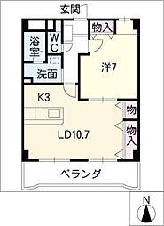 第3仁ビル[4階]の間取り