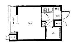 神奈川県横浜市神奈川区新子安2丁目の賃貸マンションの間取り