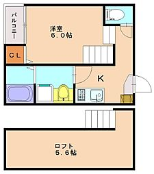 仮称)井尻4丁目新築アパートA[1階]の間取り