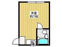 エステート新中野[2階]の間取り