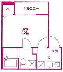 Brillio川崎[1階]の間取り