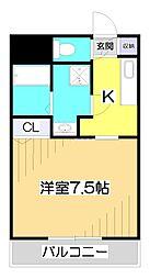 コンプリシテW[4階]の間取り