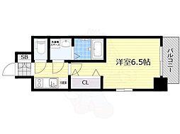 プロヴィスタ新大阪イーストゲート 4階1Kの間取り