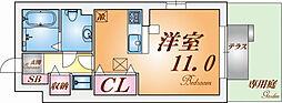 兵庫県神戸市北区山田町下谷上芝床の賃貸アパートの間取り