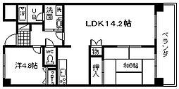 ドミール川崎[505号室]の間取り