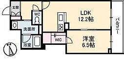 高松琴平電気鉄道長尾線 林道駅 徒歩1分の賃貸マンション 3階1LDKの間取り