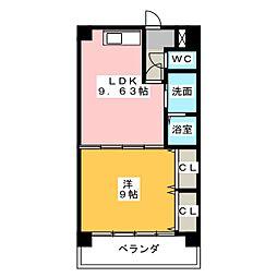 ケイズマンション赤池[2階]の間取り