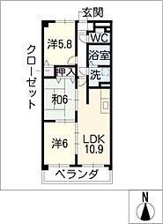 パレス・イズミヤ[3階]の間取り
