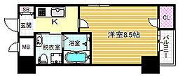 HS梅田EAST[10階]の間取り
