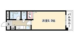 ハイネス修芳[602号室]の間取り