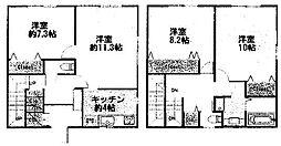 [タウンハウス] 神奈川県座間市入谷5丁目 の賃貸【/】の間取り