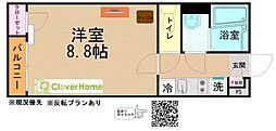 小田急小田原線 相武台前駅 徒歩17分の賃貸アパート 1階1Kの間取り