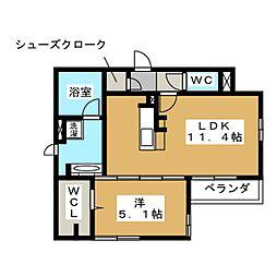 メゾン・ド・プルミエール[2階]の間取り