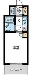 ウィンベルソロ蒲田第2[205号室]の間取り