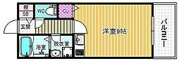 阪神ハイグレードマンション12番館[4階]の間取り