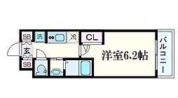 Osaka Metro御堂筋線 西中島南方駅 徒歩9分の賃貸マンション 2階1Kの間取り