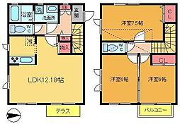 [テラスハウス] 東京都葛飾区白鳥4丁目 の賃貸【/】の間取り
