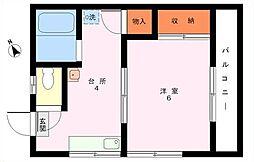 福住荘[201号室]の間取り