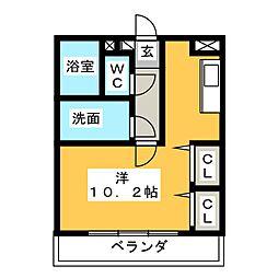 ブルースカイマンションVI[2階]の間取り
