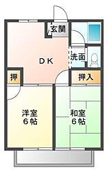 サマックスビュー長島[2階]の間取り