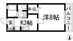 キャッスルウィル池田[2階]の間取り