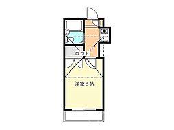 フラット栄[1階]の間取り