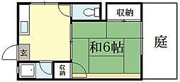 洛北マンション[1階]の間取り