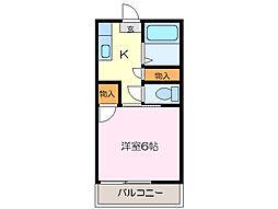 ロイヤルふじII[2階]の間取り