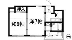 イーグル[2階]の間取り