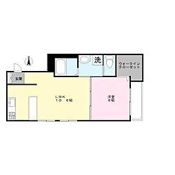 Largo okusawa[2階]の間取り