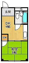 ヨシハイツ[1階]の間取り