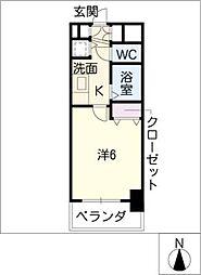 プレサンス桜通アベニュー[8階]の間取り