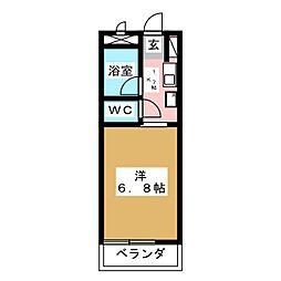 NONAMIハウス[6階]の間取り