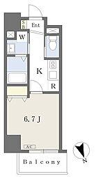 MISTRAL姫路駅前IV 5階1Kの間取り
