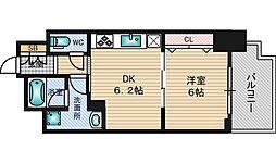 エステムコート新大阪10ザ・ゲート[8階]の間取り