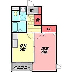 守口ASK八島マンション 9階1DKの間取り