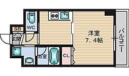 ドルチェヴィータ新大阪[417号室]の間取り