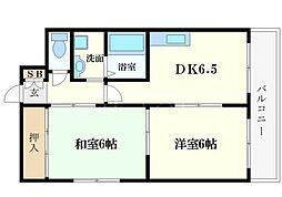 ノアーズアーク桜川[2階]の間取り