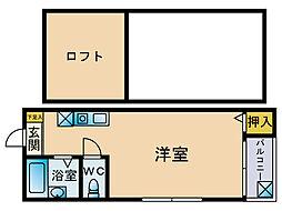 マキシム博多駅南2[1階]の間取り