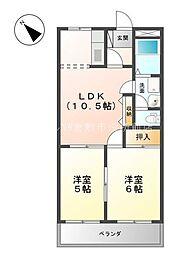 コンフォース亀山II[2階]の間取り