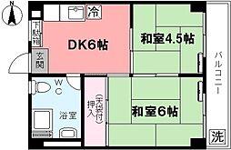 コーポ大和妙正寺公園[404号室]の間取り
