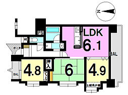 プレステージ甲南山手 6階