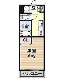 パレ南笠佐わらび[108号室号室]の間取り