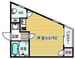 メニュール新福島[1階]の間取り