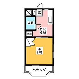 ボーネンK[2階]の間取り